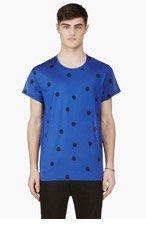 ACNE STUDIOS Blue Polka Dot T-Shirt for men