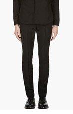 KRISVANASSCHE Black Slim Tuxedo Trousers for men