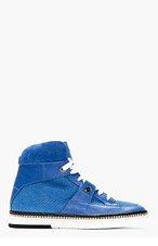 JIMMY CHOO Blue Python Embossed Barlowe High-Top Sneakers for men