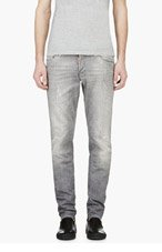 DSQUARED2 Grey Distressed Paint Speckled Jeans for men