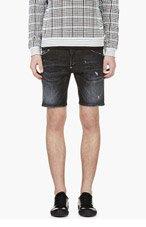 DSQUARED2 Black Distressed Denim Shorts for men