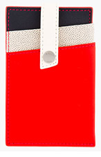 WANT LES ESSENTIELS DE LA VIE Red Colorblocked Kennedy Card Holder for men
