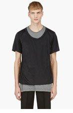 COMME DES GARÇONS HOMME PLUS Black & Grey Layered T-Shirt for men