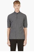 KRISVANASSCHE Black Short Sleeve Button Down Shirt for men