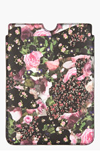 GIVENCHY Black & Pink Pebbled Floral Camo iPad Mini Sleeve for men
