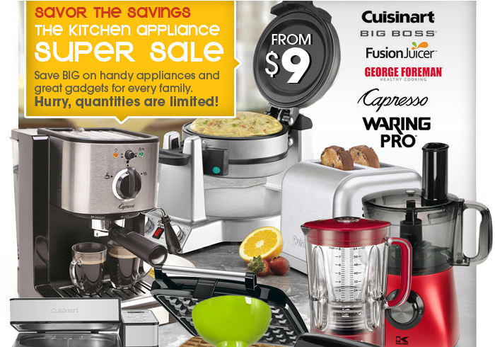 Savor the Savings: The Kitchen Appliance Super Sale