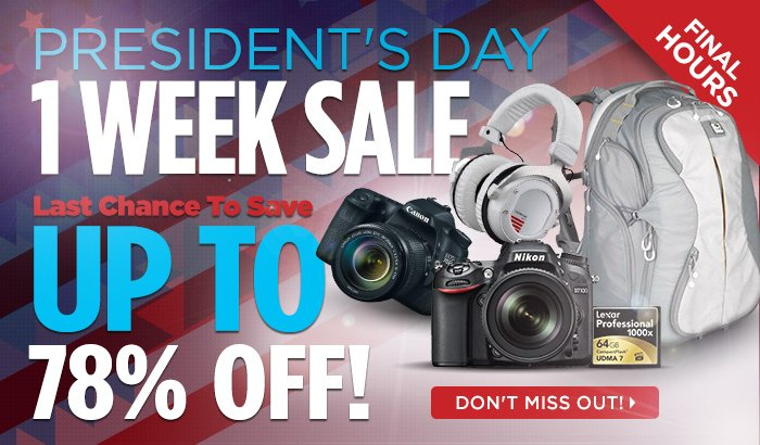 Final Hours Of The Presidents Day Week Long Sale!