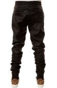 The Ages Vegan Leather Jogger Pants in Black