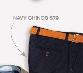 Navy Chinos $79