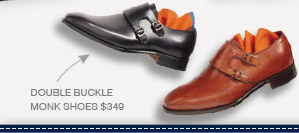 Double Buckle Monk Shoes $349
