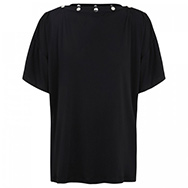 GIVENCHY - Studded silk jersey top