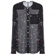 GIVENCHY - Printed cotton poplin blouse