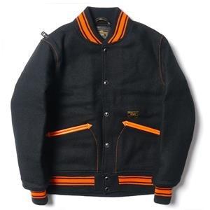 WTaps Varsity Jacket / Jacket. Wool. Melton. Harris Tweed