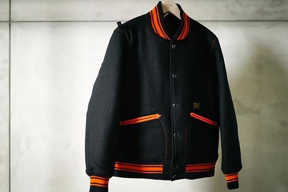 WTAPS Varsity Jacket. Harris Tweed Wool