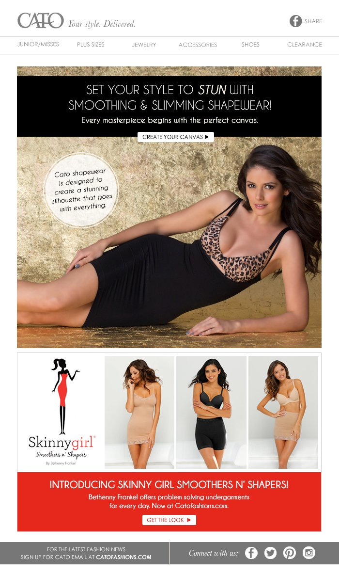 68fade778d2f2 Cato  Set Your Style to Stun with Cato Shapewear