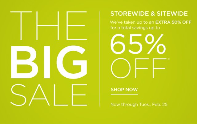 Up to 65% off The Big Sale