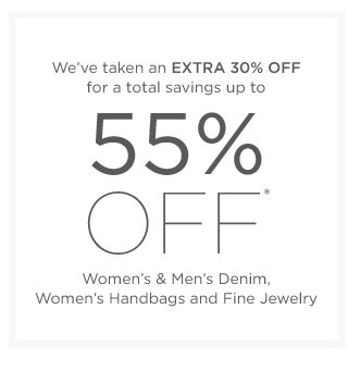 Up to 55% off Women's & Men's Denim and more