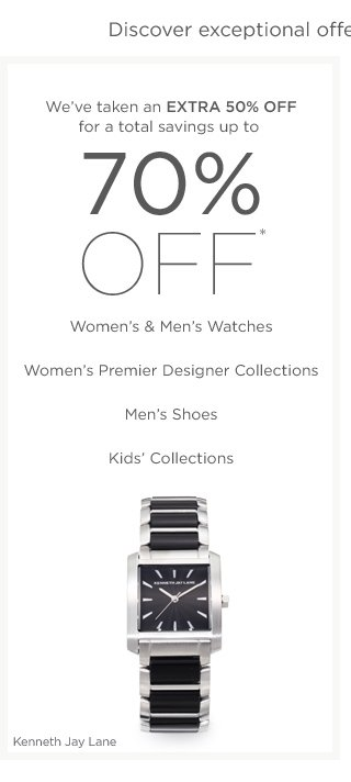 Up to 70% off Women's & Men's Watches and more
