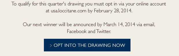 Opt into the drawing now