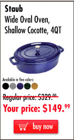Wide Oval Shallow Cocotte