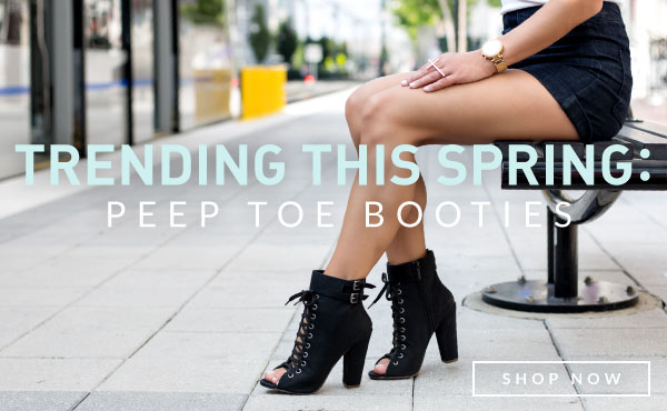 Trending this Spring: Peep Toe Booties