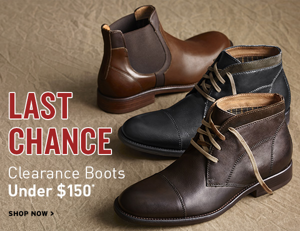 Last Chance Clearance Boots