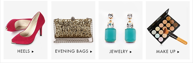 Heels, Evening Bags,Jewelry & Make up