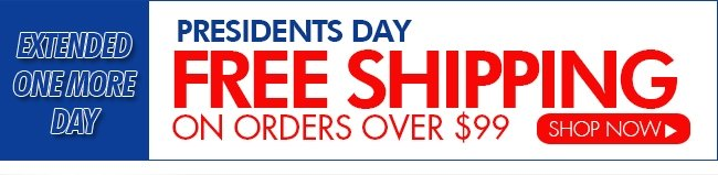 EXTENDED ONE DAY MORE—FREE SHIPPING