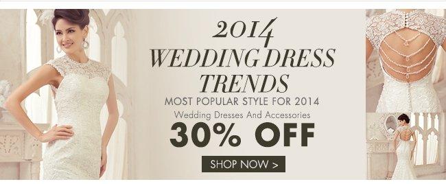 30% off Wedding Dresses For 2014