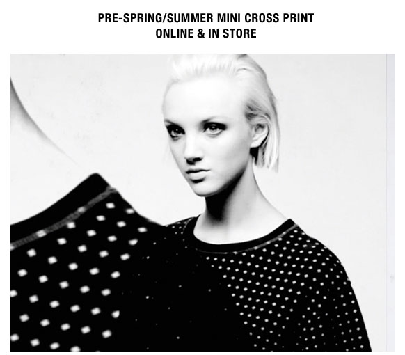 McQ Pre-Spring/Summer Mini Cross Print