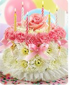Birthday Flower Cake Pastel®  Same-Day Local Florist Delivery Shop Now