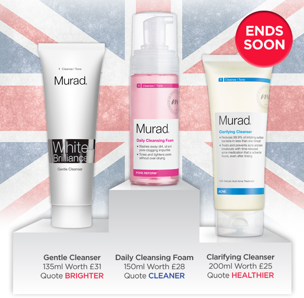 Choose from White Brilliance, Pore Reform or Blemish Control Cleansers!