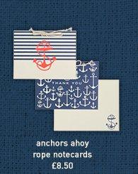 anchors ahoy rope notecards
