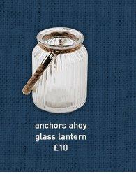 anchors ahoy glass lantern