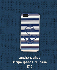 anchors ahoy stripe iphone 5c case