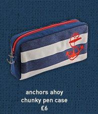 chunky pen case anchors ahoy