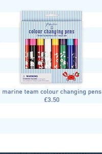 marine team colour changing pens