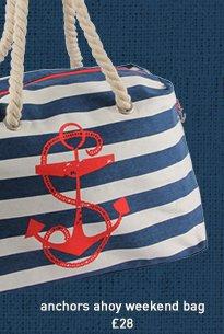 anchors ahoy weekend bag
