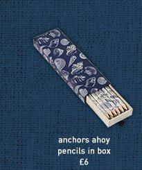 anchors ahoy pencils in a box