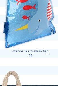 marine team swim bag
