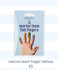 marine team finger tattoos