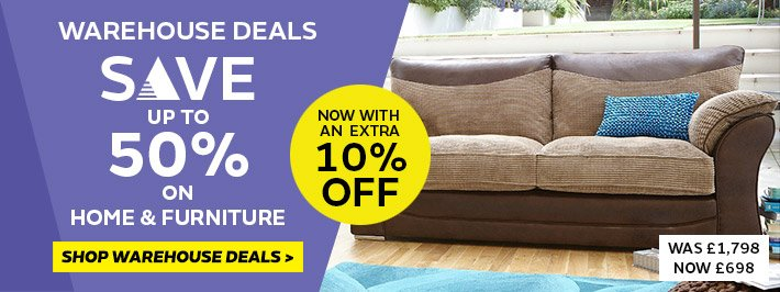 Save an extra 10% off warehouse deals