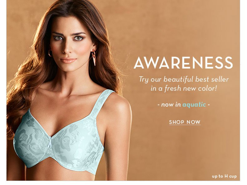 Our bestselling Awareness Bra - now in a fresh new color! Shop up to H Cup