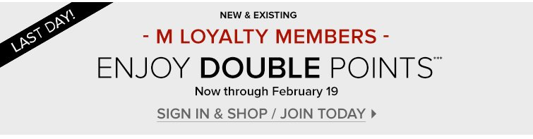 SIGN IN & SHOP / JOIN TODAY