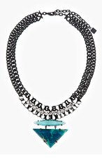 DANNIJO Turquoise & Black Leona Nacklace for women