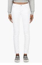 BLK DNM White Reinforced Knee Skinny Jeans for women