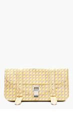 PROENZA SCHOULER Yellow & Grey PS1 Pochette Clutch for women