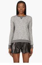RAG & BONE Grey Marled Georgia Sweater for women