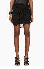 HELMUT LANG Black Jersey Slack Twist Mini Skirt for women