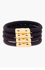 VERSACE Black & Gold Cord Bracelet for women